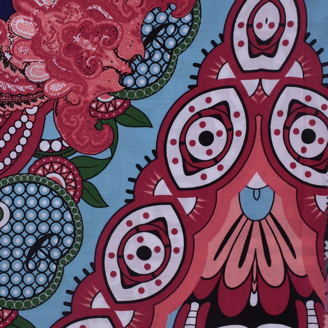 人棉期货定位花朵梭织印花无弹衬衫连衣裙 短裙 薄 棉感 70522-55