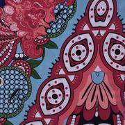 人棉期貨定位花朵梭織印花無彈襯衫連衣裙 短裙 薄 棉感 70522-55
