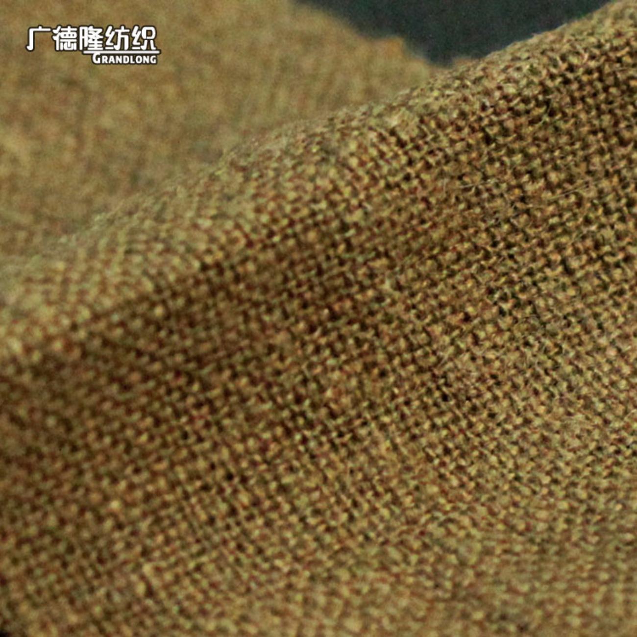 广德隆MAB153 纯色亚麻棉混纺面料 时尚家庭装饰桌布台布套罩坐垫靠枕手袋 裙子裤子上衣衬衫外套箱包鞋子帽子