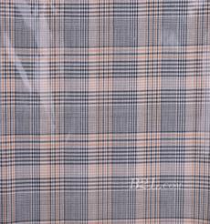 格子 梭織 色織 PU復合 低彈 春秋 大衣 外套 女裝 80714-22