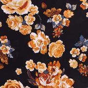 人棉期货花朵梭织印花无弹衬衫连衣裙 短裙 薄 棉感 70522-70