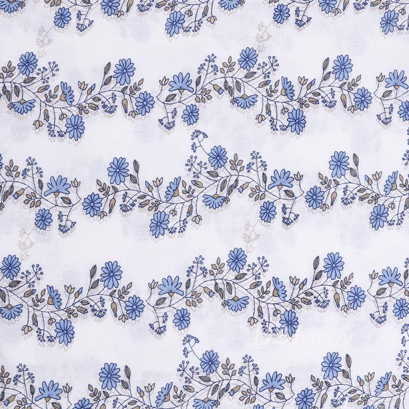 全人棉 人棉皱 花朵 梭织 印花 低弹 连衣裙 衬衫 女装 春秋 71204-2