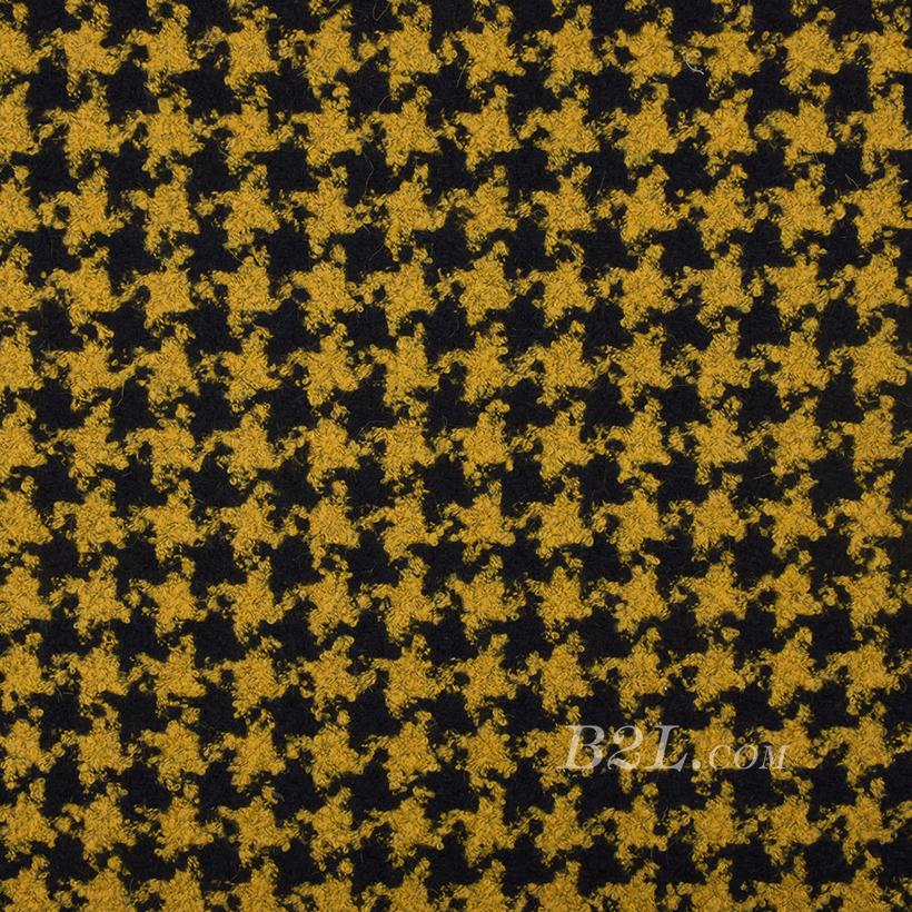 毛纺 羊毛 编织呢 千鸟格 绒感 厚 大衣 秋冬 女装 80323-2