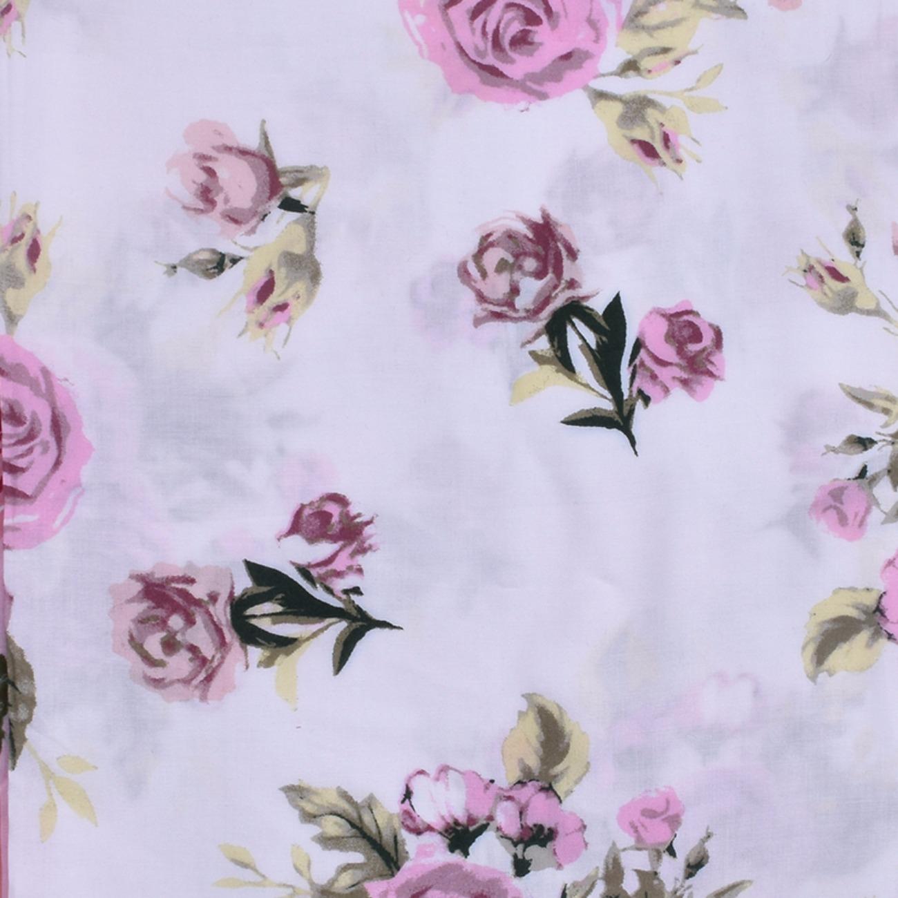 人棉期货花朵梭织印花无弹衬衫连衣裙 短裙 薄 棉感 70522-76