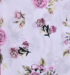 人棉期貨花朵梭織印花無彈襯衫連衣裙 短裙 薄 棉感 70522-76