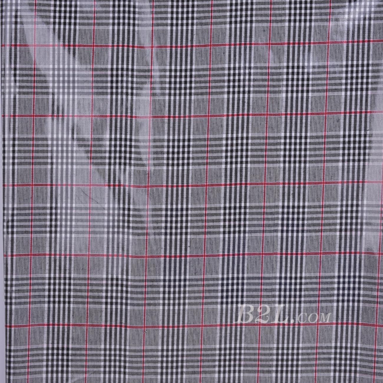 格子 梭织 色织 PU复合 低弹 春秋 大衣 外套 女装 80714-19