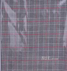 格子 梭織 色織 PU復合 低彈 春秋 大衣 外套 女裝 80714-19
