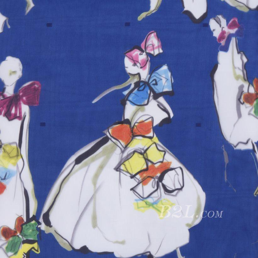 印花 梭织 模特 无弹 纱感 女装 连衣裙 短裙 春夏秋 71125-21