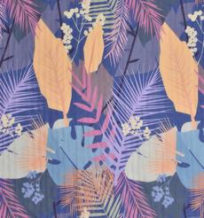 樹葉 期貨 植物 梭織 印花 連衣裙 襯衫 短裙 薄 女裝 春夏 60621-98
