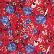 人棉期货花朵梭织印花无弹衬衫连衣裙 短裙 薄 棉感 70522-27