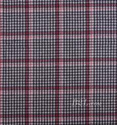 毛紡 格子 梭織 雙面 低彈 羊毛 秋冬 大衣 外套 女裝 80815-18