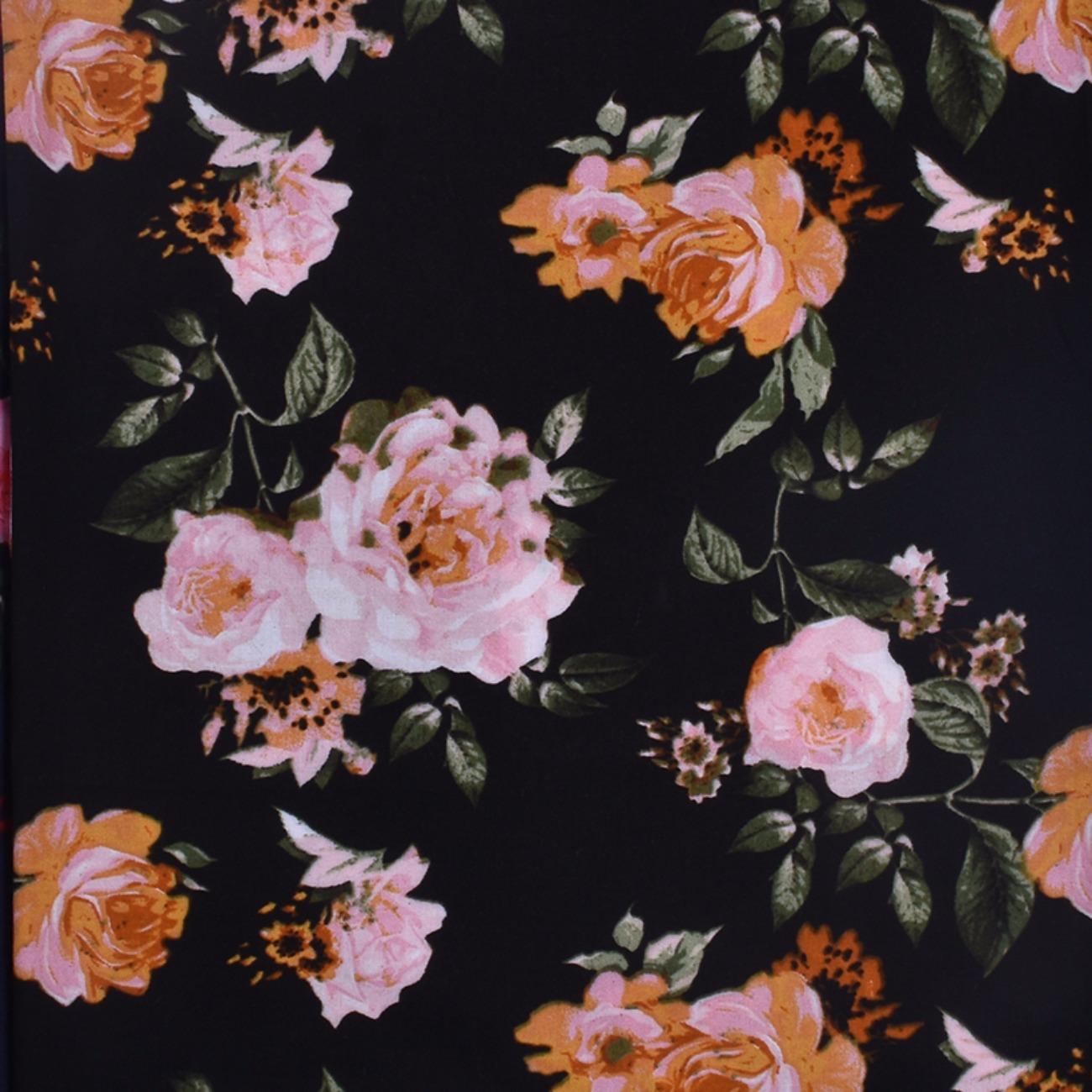 人棉期货花朵梭织印花无弹衬衫连衣裙 短裙 薄 棉感 70522-67