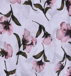 人棉皺 現貨 花朵 梭織 印花 無彈 襯衫 連衣裙 短裙 棉感 薄 70522-6