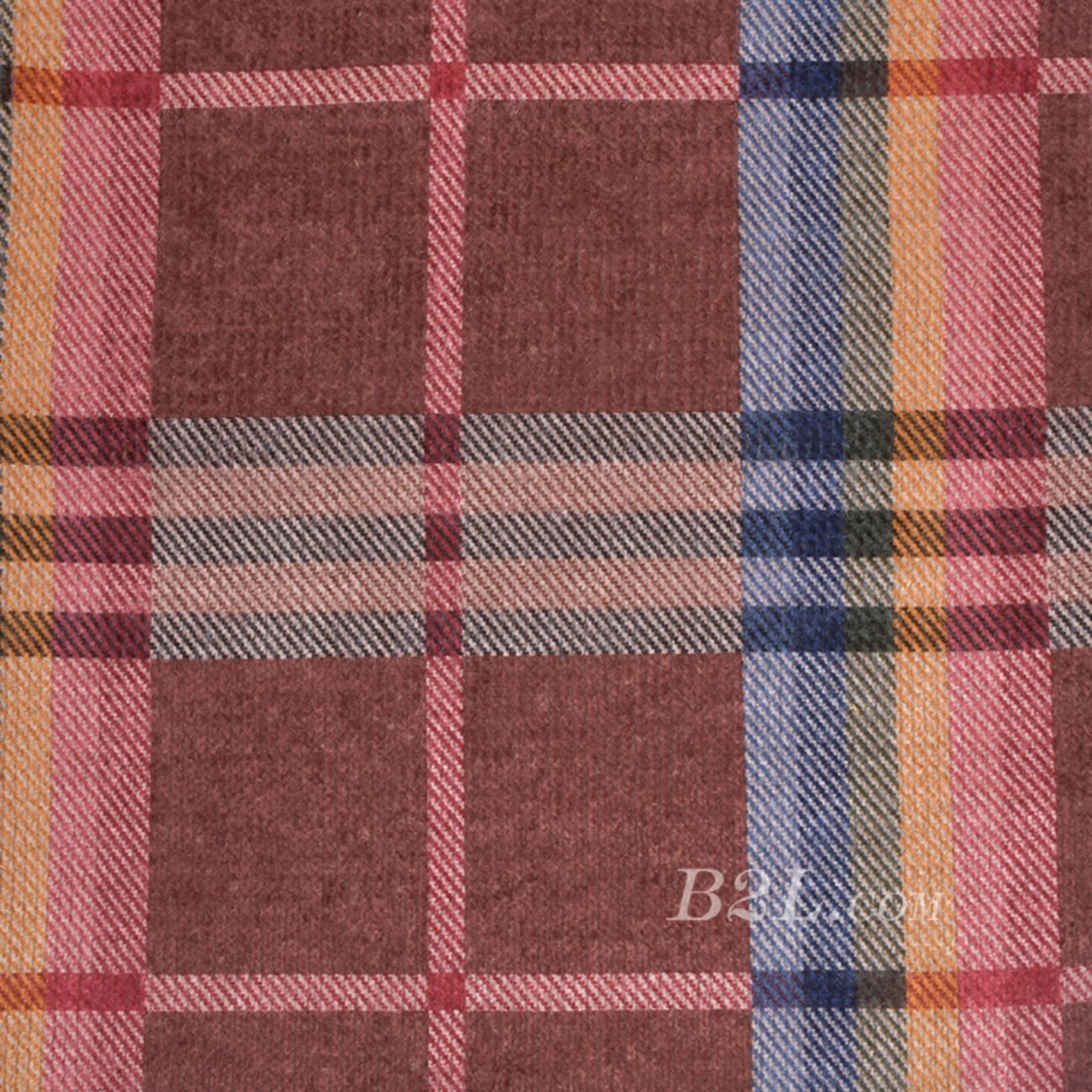毛纺 格子 粗纺 毛感 色织 低弹 秋冬 大衣 外套 女装 81028-11