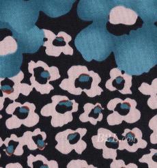 花朵 印花 針織 柔軟 全滌 連衣裙 短裙 女裝 60517-8