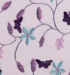 燕窝丝 植物 蝴蝶 梭织 印花 绣花 无弹 衬衫 连衣裙 薄 春夏 女装 期货 71227-30
