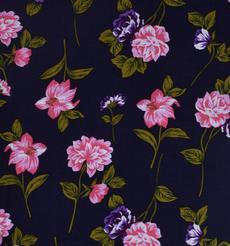 人棉期貨玫瑰花 花朵 梭織 印花 無彈 襯衫 連衣裙 短裙 薄 棉感 70522-66