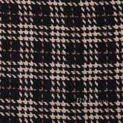 格子 毛呢 粗纺 梭织 色织 提花 无弹 外套 香奈儿风 西装 短裤 柔软 粗糙 绒感 女装 冬 70820-5
