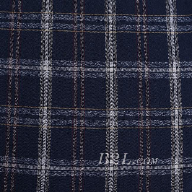 梭织 格子 棉感 色织 无弹 外套 连衣裙 短裙 薄 60620-1
