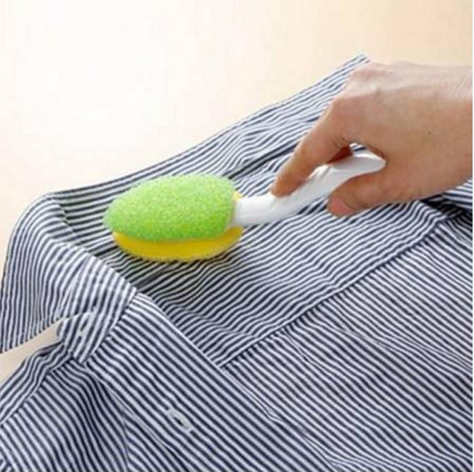 衣领污渍的清洗 洗刷