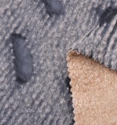毛纺 皮革 梭织 染色 皮毛一体 几何 厚 秋冬 大衣 棉服 90930-1