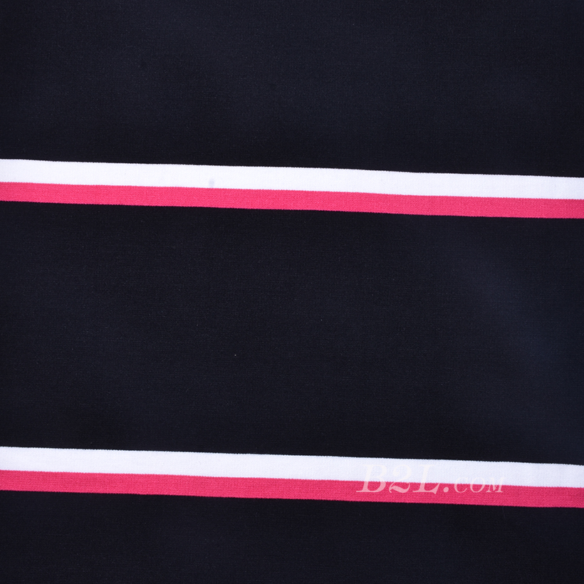 条子 横条 圆机 针织 纬编 T恤 针织衫 连衣裙 棉感 弹力 循环 60312-3