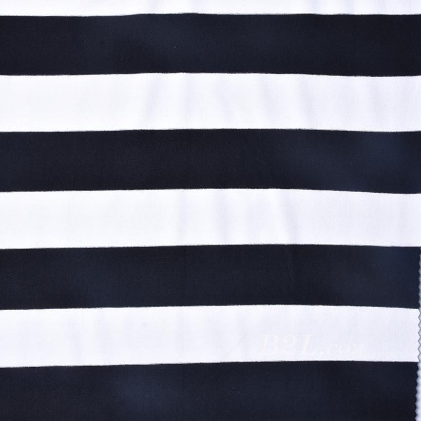 条子 横条 圆机 针织 纬编 T恤 针织衫 连衣裙 棉感 弹力 60312-180