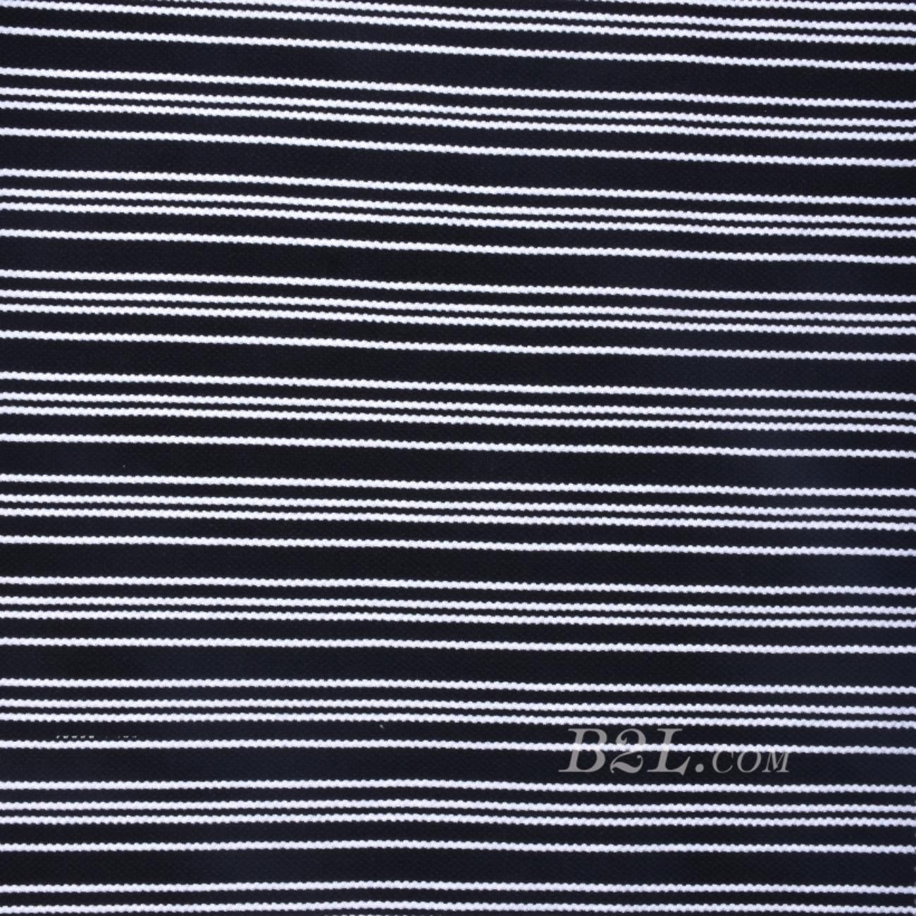 针织弹力条子面料圆机纬编竖条连衣裙期货棉感T恤针织衫60311-57