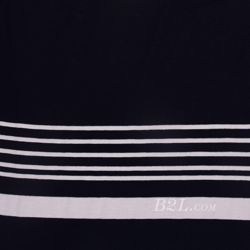 条子 横条 圆机 针织 纬编 T恤 针织衫 连衣裙 棉感 弹力 定位 60312-175