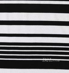 条子 横条 圆机 针织 纬编 T恤 针织衫 连衣裙 棉感 弹力 定位 罗纹 期货 60312-63