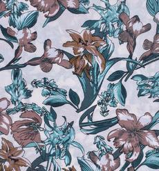 人棉期貨花朵梭織印花無彈襯衫連衣裙 短裙 薄 棉感 70522-69