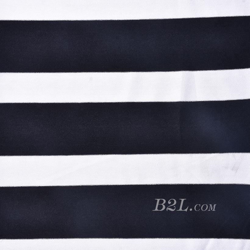 条子 横条 圆机 针织 纬编 T恤 针织衫 连衣裙 棉感 弹力 60312-185