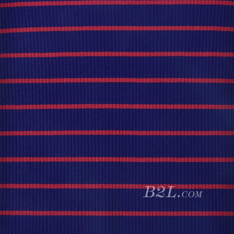 条子 横条 圆机 针织 纬编 T恤 针织衫 连衣裙 棉感 弹力 罗纹60312-52