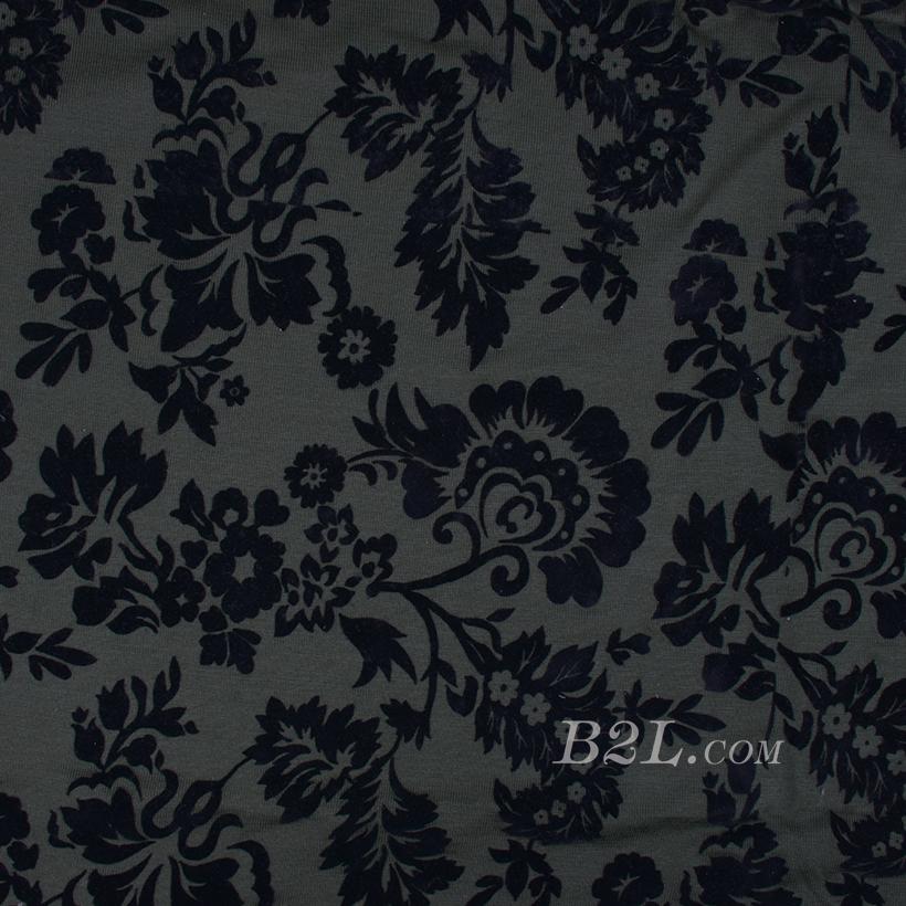 期货 印花 全涤 梭织 花朵 植绒 薄 低弹 连衣裙 秋冬 女装 80302-56