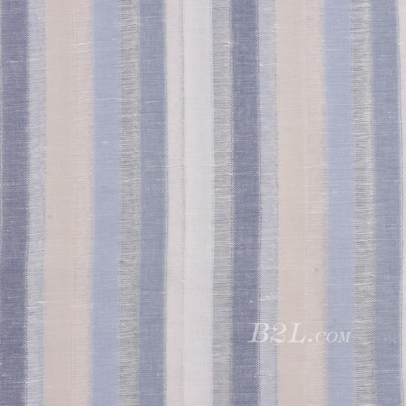 棉麻 梭织 条纹 小提花 染色 低弹 麻感 春秋 外套 连衣裙 短裙 裤装  80912-13