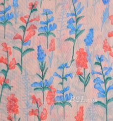 印花 梭織 染色 彈力 花朵 網布 春夏  T恤 運動服 時裝 女裝 90919-10