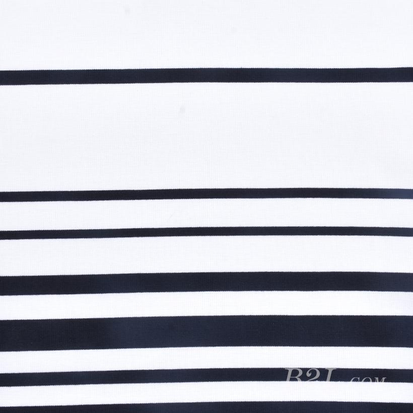 针织染色横条纹面料-春夏秋款连衣裙针织衫面料60312-23