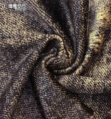广德隆YH311 涤氨弹力海岛绒秋冬保暖印花面料 家庭装饰套罩沙发抱枕桌布台布 潮流礼服大衣上衣外套裤子裙子居家休闲服装