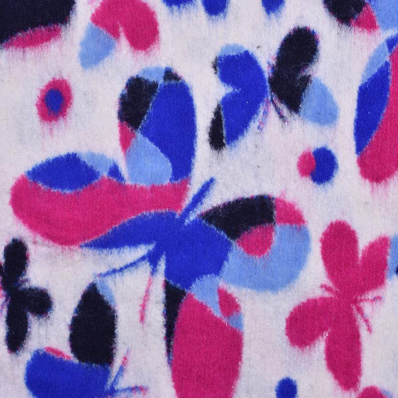 蝴蝶 呢料 柔软 羊毛 大衣 外套 女装 70315-31