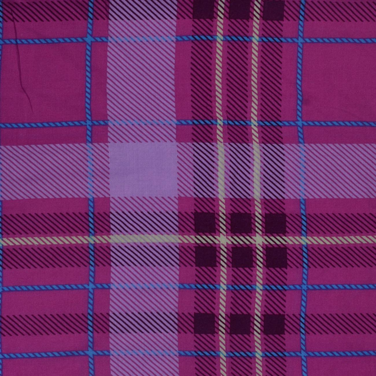 人棉期貨格子梭織印花無彈襯衫連衣裙 短裙 薄 棉感 70522-23