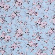 人棉期货花朵梭织印花无弹衬衫连衣裙 短裙 薄 棉感 70522-68