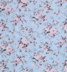 人棉期貨花朵梭織印花無彈襯衫連衣裙 短裙 薄 棉感 70522-68