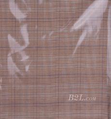 格子 梭織 色織 PU復合 低彈 春秋 大衣 外套 女裝 80714-17
