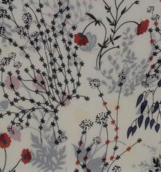 期货 印花 植物 全涤 梭织 无弹 雪纺 轻薄 连衣裙 衬衫 女装 60804-5