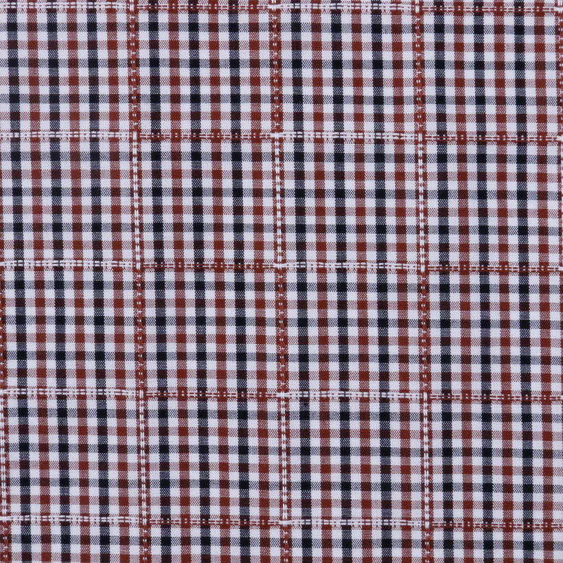 格子 条子 梭织 色织 低弹 衬衫 连衣裙 短裙 棉感 柔软 细腻 现货 女装 男装 春夏 71028-48