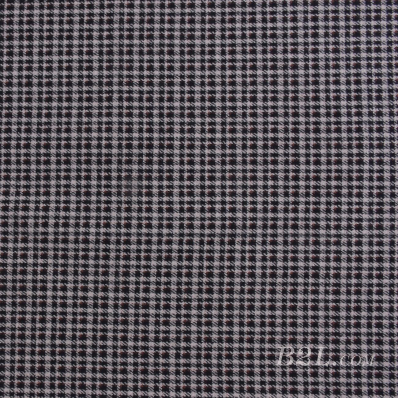 針織染色格子毛紡面料-春秋冬大衣半身裙外套面料Z745