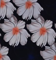 期貨 印花 花朵 全滌 無彈 連衣裙 外套 女裝 61124-45