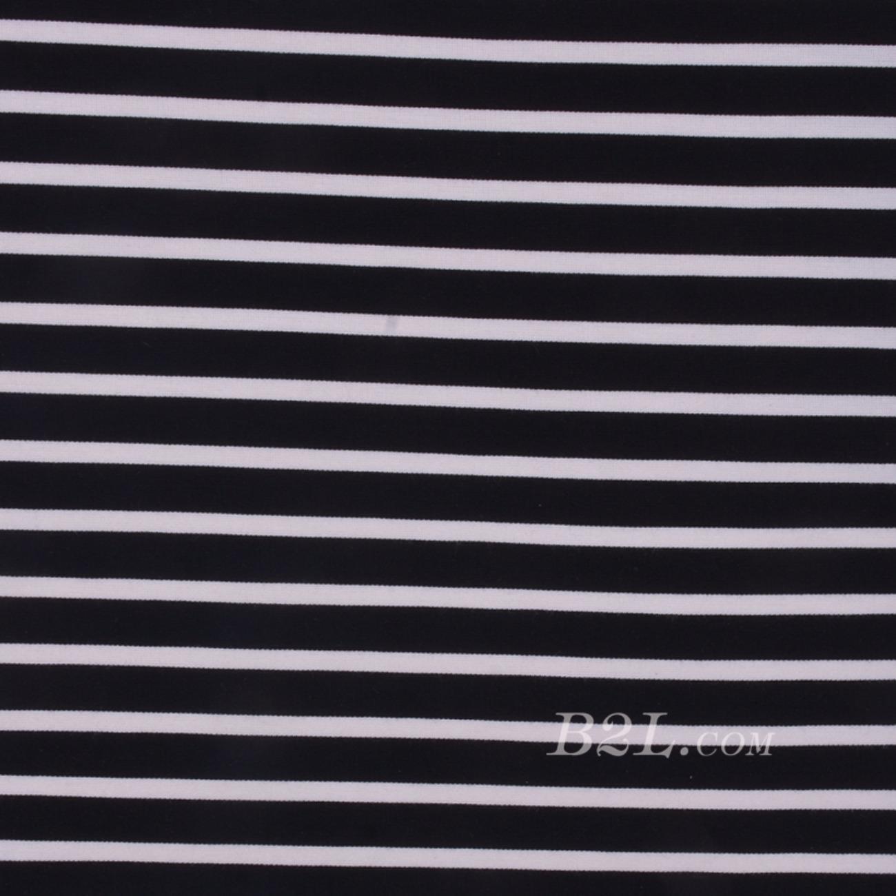现货 条子 横条 圆机 针织 纬编 T恤 针织衫 连衣裙 棉感 弹力 60312-22