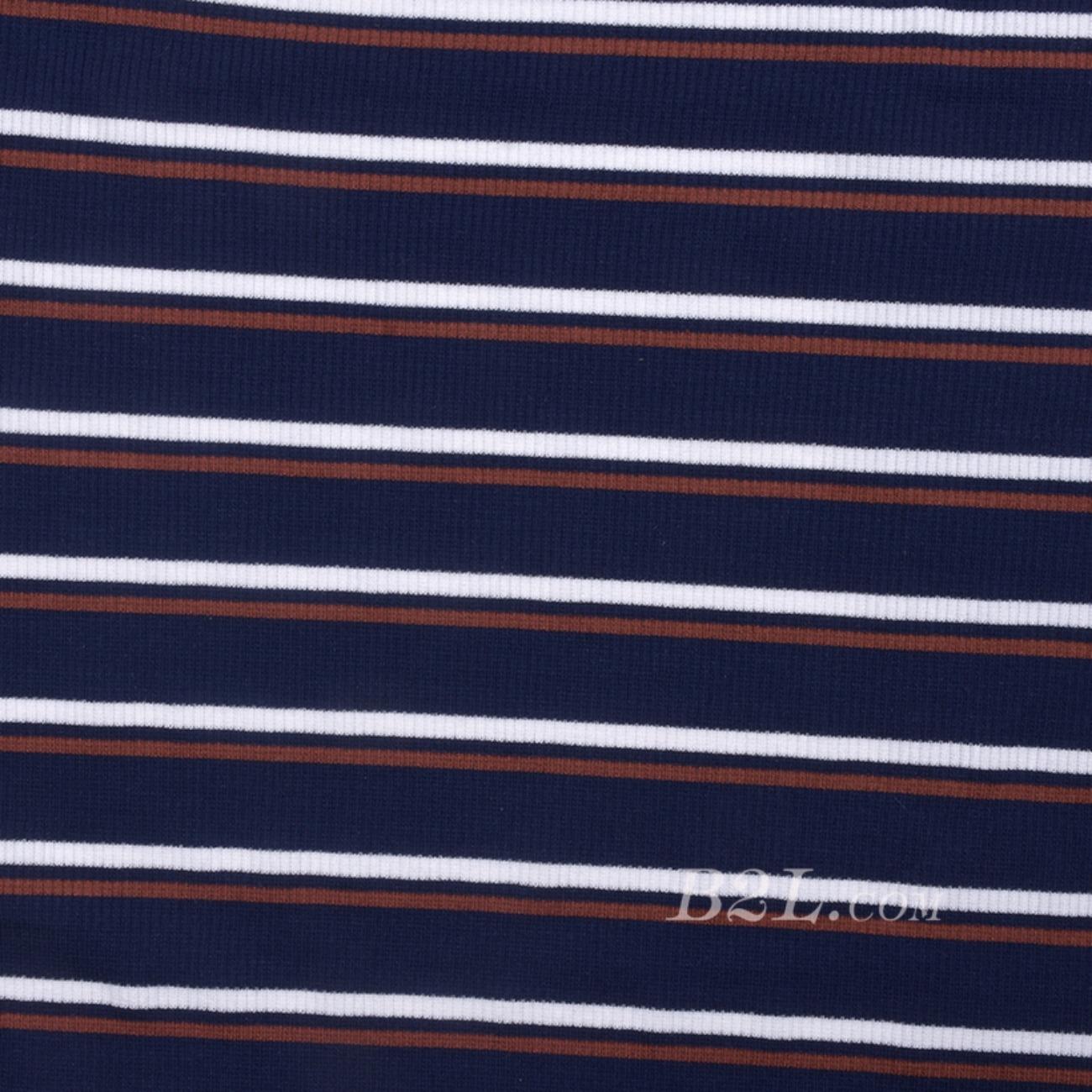 条子 横条 圆机 针织 纬编 棉感 弹力 罗纹 T恤 针织衫 连衣裙 80131-3