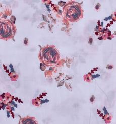 人棉期貨花朵梭織印花無彈襯衫連衣裙 短裙 薄 棉感 70522-75